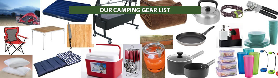 Car rental & camping gear