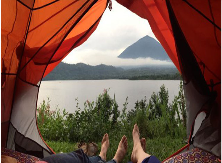 twin lakes(Ruhondo and Burere) in Rwanda